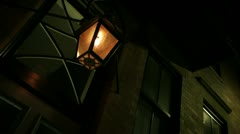 Gas lamp in north end boston Stock Footage