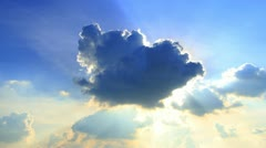 Clouds on a blue sky Stock Footage