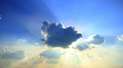 clouds on a blue sky - stock footage