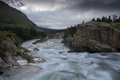 Swift current river Stock Photos