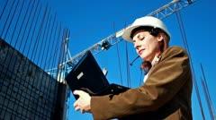 Builder engineer Stock Footage