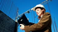 Builder engineer Stock Footage