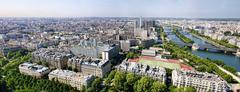 panorama of paris france - stock photo