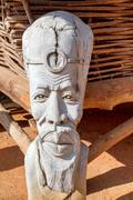 african carved wooden statue - stock photo
