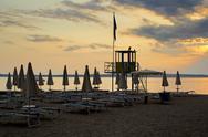 Stock Photo of evening sunset on beach