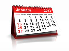 Stock Illustration of january