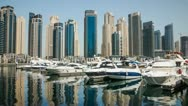 Stock Video Footage of Dubai Marina Yacht Club 4K