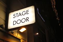 Theater stage door - stock photo