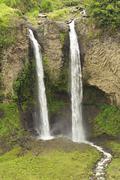 "Stock Photo of Manto De La Novia ""Loving Girlfriend"" Waterfall Twin Fall In Ecuador"