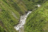 Stock Photo of river in andes