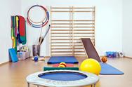 The interior of the gym for children and adults Stock Photos
