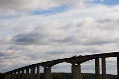 Motorway Bridge Silhouette Stock Photos
