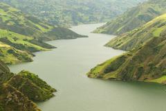 Stock Photo of Paute River Flowing Trough The Andes Mountains In Ecuador Santiago Morona Region
