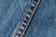 Macro Shot Of A Stitching Technique Used On Denim Jeans Stock Photos
