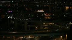 Aerial View of Shanghai, China, Nanpu Bridge Interchange, Huangpu River Stock Footage