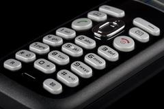Stock Photo of Alphanumeric Keys On A Telephone Keyboard Studio Close Up