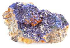 Azurite Is A Soft Deep Blue Copper Mineral Produced By Weathering Of Copper Ore Stock Photos