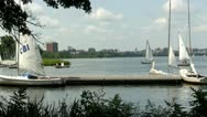 Stock Video Footage of Yacht club Boston Charles river