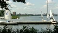 Yacht club Boston Charles river Stock Footage