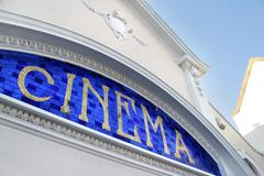 Cinema sign Stock Photos
