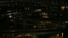 Nanpu Bridge Interchange, Aerial View of Shanghai, China, Huangpu River Stock Footage