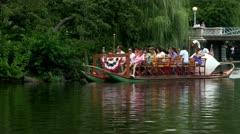 Boston swan boats; 3 Stock Footage