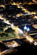 City Of Banos Ecuador View From The Belavista Observation Point - stock photo