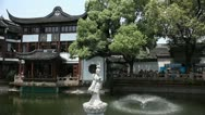 Yuyuan Garden,Yu Yuan Park, Old town in Shanghai, China, Tourists visiting Stock Footage