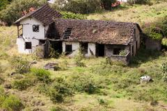 Abandoned House In Southern Ecuador - stock photo