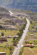 New Road Construction In Southern Ecuador - stock photo