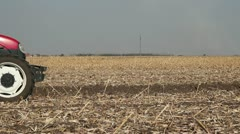Farmer Sowing Wheat Crop - stock footage