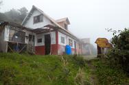 Nicolas Martines Refugee On Tungurahua Volcano Banos Ecuador Stock Photos
