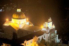 The Sanctuary Of Guapulo Which Has Been A Site Of Pilgrimage From Quito For Many - stock photo