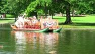 Boston swan boats; 8  HD 1080 24p Stock Footage