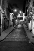 Black And White Night Image On The Outskirts Of Quito Neighborhood Well Known Stock Photos
