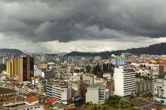 Stock Photo of Quito Ecuador In A Rainy Day