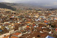 South Part Of Quito After Heavy Rain Stock Photos