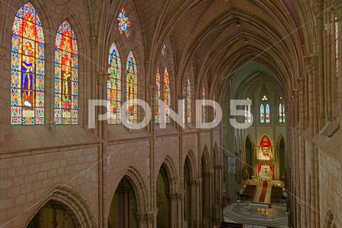 Stock photo of basilica del voto nacional horizontal