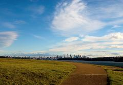 Sydney city view from south head park Stock Photos