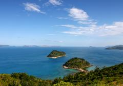 Australia, whitsundays. view from the top of south molle island Stock Photos