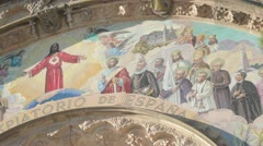 Jesus at mount tibidabo Stock Footage