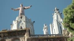 Jesus at mount tibidabo Stock Footage
