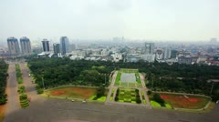 High angle jakarta city view Stock Footage