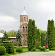 Arges Monastery Garden Located In Romania Curtea De Arges City - stock photo