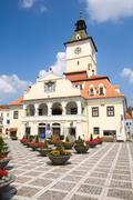 History Museum Located In Brasov Romania City Council Headquarter - stock photo