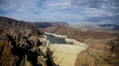 Dam, weir, dike, barrage, dyke, lock powerhouse the Hoover Dam Stock Footage