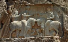 naqsh-e rostam, tombs of persian kings, iran - stock photo