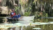 Stock Video Footage of Fishing in Swamp
