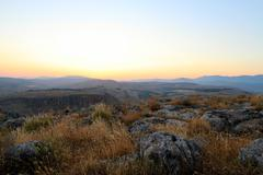 Galilee Landscape at Twilight - stock photo