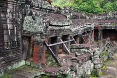 Preah khan temple. angkor, siem reap. cambodia. Stock Photos